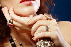 Jewelry hands Royalty Free Stock Images