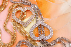 Jewelry with heart Royalty Free Stock Photography