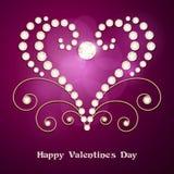 Jewelry heart background Stock Image