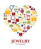 Jewelry heart shape Royalty Free Stock Photo