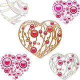Jewelry hearts Royalty Free Stock Photography
