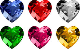 Jewelry _hearts. Jewelry hearts collection. vector illustration Stock Image