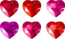 Jewelry _hearts. Jewelry red hearts collection. Vector illustration Royalty Free Stock Images