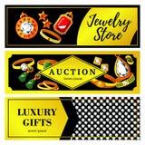 Jewelry Horizontal Banners Royalty Free Stock Photo