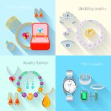 Jewelry icon flat Royalty Free Stock Images