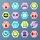 Jewelry icon hexagon Royalty Free Stock Image