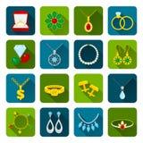 Jewelry icon set Royalty Free Stock Photo