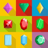Jewelry icons set, flat style royalty free illustration