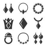 Jewelry Icons set Stock Image