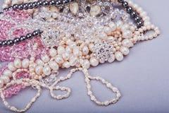 Jewelry and imitation jewelry Stock Image