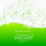 Jewelry invitation card. Royalty Free Stock Photos