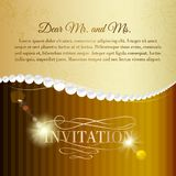 Jewelry invitation card. Stock Photo