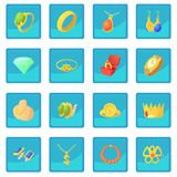 Jewelry items icon blue app Stock Images