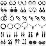 Jewelry items icons set Stock Image