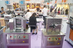 Jewelry and jade processing machinery exhibition sales Royalty Free Stock Photos