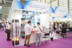 Jewelry and jade processing machinery exhibition sales Stock Photo