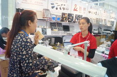 Jewelry and jade processing machinery exhibition sales Stock Photos