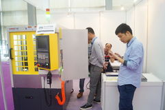 Jewelry and jade processing machinery exhibition sales Royalty Free Stock Images
