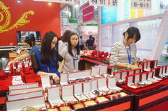 Jewelry and jade sales Stock Images