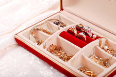 Jewelry in Jewelry Box Stock Photo