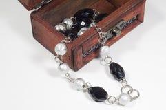 Jewelry and jewelry box Stock Photo