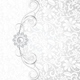 Jewelry and lace. Jewelry border on white lace background. Invitation card stock illustration