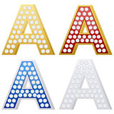 Jewelry letter A Stock Photos