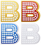 Jewelry letter B Stock Photos