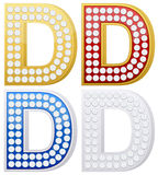Jewelry letter D Royalty Free Stock Photos