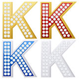 Jewelry letter K Stock Photo