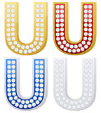 Jewelry letter U Royalty Free Stock Photo