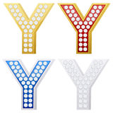 Jewelry letter Y Royalty Free Stock Images