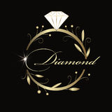 Jewelry logo design in organic style Stock Images