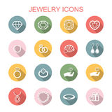 Jewelry long shadow icons Royalty Free Stock Photo