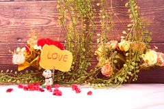 jewelry and love message royalty free stock photo
