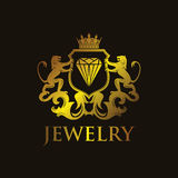Jewelry. Luxury and Elegant Jewelry Coat of Arms Royalty Free Stock Photos