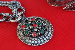 Jewelry made ​​of silver. Stock Photos