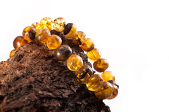 Jewelry made of amber Royalty Free Stock Photo