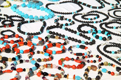 Jewelry made of lava stone Royalty Free Stock Images