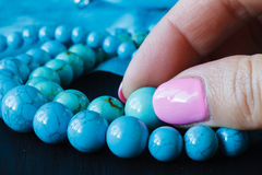Jewelry made of turquoise Stock Photography