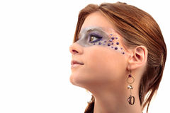 Jewelry make-up girl Royalty Free Stock Photos