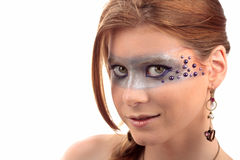 Jewelry make-up girl Stock Image
