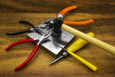 Jewelry making tools Stock Images