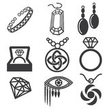 Jewelry mark set Stock Images