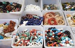Jewelry market stall Royalty Free Stock Photos