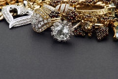 Jewelry mix Stock Image