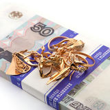 Jewelry and money Royalty Free Stock Photo