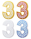 Jewelry number three Royalty Free Stock Photo