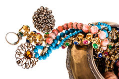 Jewelry out of the box Stock Photography