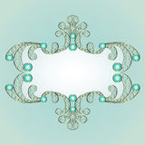 jewelry pattern frame Stock Photos